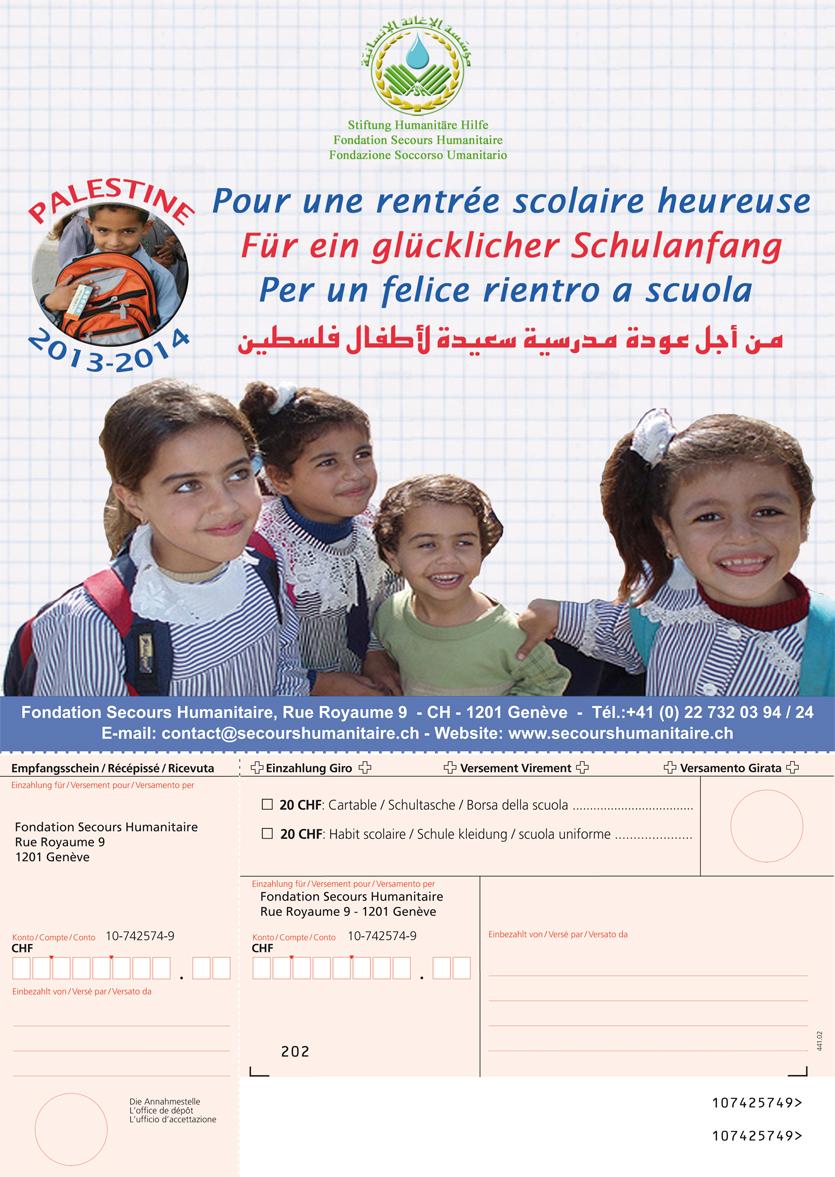 Rentrée scolaire 2013-2014 en Palestine